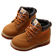 Para Meninos sapatos Sintético Outono Inverno Botas da Moda Curta/Ankle Coturnos Botas Botas Curtas / Ankle Cadarço Pregueado Para Casual