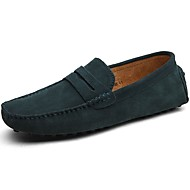 Men's Shoes Suede Spring Fall Driving Shoes Loafers & Slip-Ons For Casual Light Brown Khaki Royal Blue Burgundy Dark Green