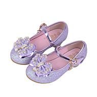 tanie Obuwie dziewczęce-Dla dziewczynek Buty Syntetyczny Wiosna Jesień Comfort Buty płaskie Kryształki Koraliki Cekin Sztuczna perła Brokat Haczyk i pętelka na