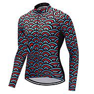 FUALRNY® Muškarci Dugih rukava Biciklistička majica - Crvena Bicikl Biciklistička majica, Quick dry