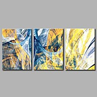 halpa -Maalattu Abstrakti Yksinkertainen Moderni 3 paneeli Kanvas Hang-Painted öljymaalaus For Kodinsisustus