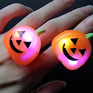 2pcs ywxlight® rgb 할로윈 바 댄스 소품 led 배터리를 포함하는 글로우 반지