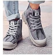 baratos Sapatos Masculinos-Homens Cowboy / Western Boots Lona Outono / Inverno Conforto / Botas Cowboy / Country Botas Azul / Branco / Preto / Khaki