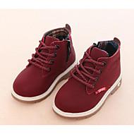 baratos Sapatos de Menino-Para Meninos Sapatos Micofibra Sintética PU Outono / Inverno Conforto / Coturnos Botas para Preto / Amarelo Claro / Vinho