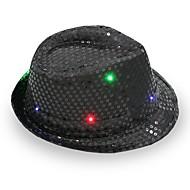 fedora led knipperende sequins jazz cap hip hop hoed partij verjaardag hoeden pet huwelijks halloween