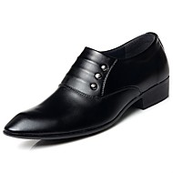 Masculino sapatos Courino Couro Ecológico Primavera Outono Conforto Oxfords Para Casual Preto