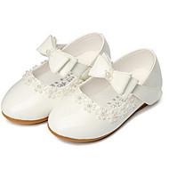 Para Meninas sapatos Couro Ecológico Primavera Outono Sapatos para Daminhas de Honra Tênis Para Casual Branco Preto Vermelho