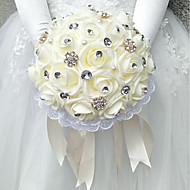 Brudebuketter Buketter Bryllup polyester / Skum 9.84 tommer (ca. 25cm)