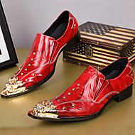 abordables Oxfords pour Homme-Homme Chaussures Formal Cuir Nappa Automne / Hiver Rétro Mocassins et Chaussons+D6148 Rouge / Soirée & Evénement / Soirée & Evénement