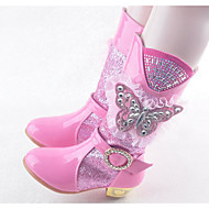 Girls' Shoes Synthetic Microfiber PU Fall Winter Snow Boots Boots Mid-Calf Boots For Casual Blushing Pink Blue Purple