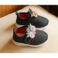 baratos Sapatos de Menina-Para Meninas Sapatos Lona Primavera / Outono Conforto Mocassins e Slip-Ons para Casual Cinzento / Vermelho / Rosa claro