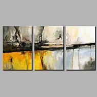 billiga Abstrakta målningar-Hang målad oljemålning HANDMÅLAD - Abstrakt Artistisk Abstrakt Rustik Duk