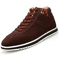 Masculino sapatos Pele Nobuck Primavera Outono Conforto Tênis Cadarço Para Preto Marron Azul
