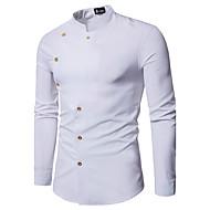Masculino Camisa Social Casamento Festa Contemprâneo Simples Estilo Clássico Todas as Estações,Sólido Acrílico Poliéster Colarinho Chinês