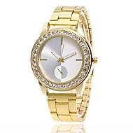 Homens Mulheres Relógio de Moda Relógio de Pulso Simulado Diamante Relógio Chinês Quartzo Metal Banda Prata Dourada Ouro Rose