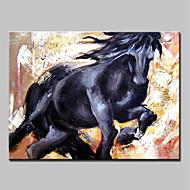 billiga Djurporträttmålningar-Hang målad oljemålning HANDMÅLAD - Djur Abstrakt Moderna Inkludera innerram / Sträckt kanfas