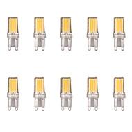 billige Bi-pin lamper med LED-10pcs 2W G9 LED-lamper med G-sokkel 1 leds COB Varm hvit Kjølig hvit 1lm 6500/3500K AC 220-240V