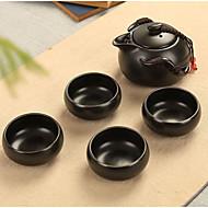 esmalte cerâmico matte 1 vaso 4cups de utensílios de cozinha para viagem de chá