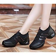 baratos Sapatilhas de Dança-Mulheres Tênis de Dança Tule Sapatilha / Salto Sapatos de Dança Branco / Preto / Ensaio / Prática