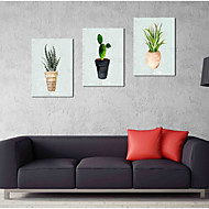 cheap Prints-Hand-Painted Pop Art Horizontal Panoramic, Artistic Nature Inspired Rustic Casual Birthday Cool Office/Business Modern/Contemporary New