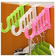 billige Kroker-dør multi-purpose kroker plagg non-trace tilbake plagg henger krok ramdon farge