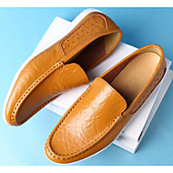 남성 구두 가죽 봄 가을 조명 신발 로퍼&슬립-온 캐쥬얼 용 화이트 블랙 라이트 그린