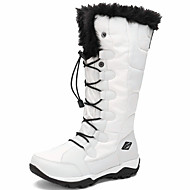 cheap Women's Boots-Women's Shoes Canvas Spandex Fabric Winter Fall Snow Boots Combat Boots Boots Round Toe Knee High Boots Lace-up for Outdoor Work & Safety