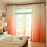 Barra no Interior Anéis Presilhas Duplo Plissado Único Plissado Tratamento janela Europeu , Estampa Colorida Quarto Material Cortinas