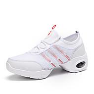 """נשים סניקרס לריקוד טול נעלי ספורט אימון שטוח לבן שחור 4 ס""""מ"""