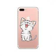 billiga Mobil cases & Skärmskydd-fodral Till Apple iPhone X / iPhone 8 Genomskinlig / Mönster Skal Katt Mjukt TPU för iPhone X / iPhone 8 Plus / iPhone 8