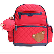 børn Tasker Oxfordtøj Børne Tasker Lynlås for Afslappet Alle årstider Rød Lyserød