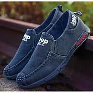 Herre sko Lerret Vår Høst Lette såler Treningssko Til Avslappet Mørkeblå Grå Lyseblå