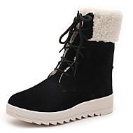 baratos Sapatos Femininos-Mulheres Sapatos Flocagem Outono / Inverno Conforto / Botas de Neve Botas Preto / Khaki