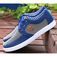Men's Shoes Canvas Spring Fall Light Soles Sneakers For Casual Gray Yellow Blue