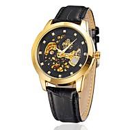 Pánské Dámské Módní hodinky mechanické hodinky Automatické natahování Kůže Kapela