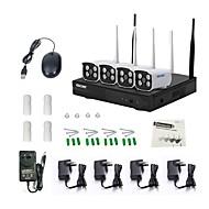 tanie Zestawy z rejestratorem sieciowym (NVR)-escam H.264 4 kalały 720P (1280*720)(Ręczny Alarm uruchomiony Ustawienie czasu Wykrywanie ruchu)