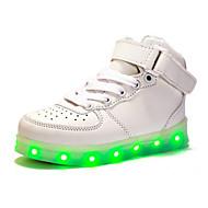 tanie Obuwie chłopięce-Dla chłopców Buty PU Wiosna Jesień Świecące buty Zabawne Comfort Tenisówki LED Tasiemka Szurowane na Casual Na wolnym powietrzu White