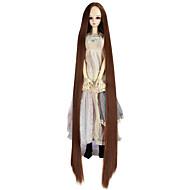 Naisten Synteettiset peruukit Suojuksettomat Hyvin pitkä Kinky Straight Medium Auburn Doll Wig Rooliasu peruukki