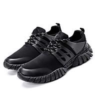 Miehet kengät Hengittävää verkkoa Kevät Syksy Valopohjat Comfort Urheilukengät Jouksu Käyttötarkoitus Urheilullinen Musta Harmaa Sininen