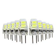 YWXLIGHT® 10個 1W 50lm G4 LED2本ピン電球 4 LEDビーズ SMD 5730 温白色 クールホワイト 5V