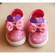 tanie Obuwie dziewczęce-Dla dziewczynek Buty Płótno Wiosna Jesień Comfort Buty płaskie na Casual Peach Niebieski Różowy