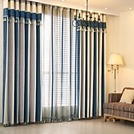 Window Treatment Europeisk , Stribe Soverom Materiale gardiner gardiner Hjem Dekor For Vindu