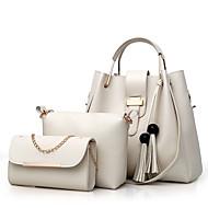 お買い得  バッグセット-女性用 バッグ PU バッグセット 3個の財布セット ジッパー のために ショッピング ピンク / グレー / Brown
