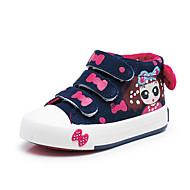 baratos Sapatos de Menina-Para Meninas Sapatos Lona Primavera / Outono Conforto Tênis para Preto / Azul Escuro / Rosa Claro