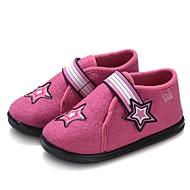 tanie Obuwie dziewczęce-Dla dziewczynek Buty Wełna Zima Wulkanizowane buty Buty do nauki chodzenia Comfort Mokasyny i pantofle Haft nakładany Tasiemka na Casual