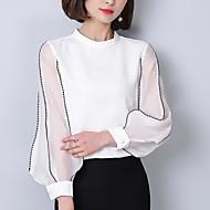 Majica Žene Jednobojni Uski okrugli izrez Perlice Vezeno
