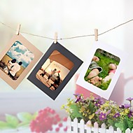 cheap Picture Frames-3 Inches DIY Hanging Wall Picture Home Decoration Combination 10Pcs Wall Photo Frame With 10Pcs Clips