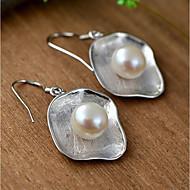 Dame Perle Øredobber Dråpeøreringer Perle Sølv øredobber damer Enkel Stil Mote Smykker Sølv Til Daglig Avslappet