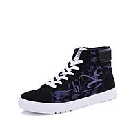 baratos Sapatos Masculinos-Homens Solas Claras Tecido Primavera / Outono Tênis Roxo / Vermelho / Branco / Preto