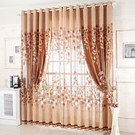 Window Treatment Glamour , Broderi Stue Materiale Blackout Gardiner Hjem Dekor For Vindu